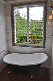 mid shot of bath with outside view